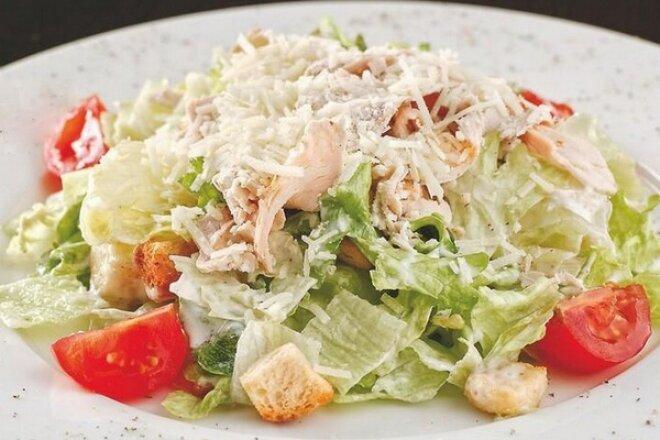 Классический салат Цезарь - Поэтапный рецепт с фото