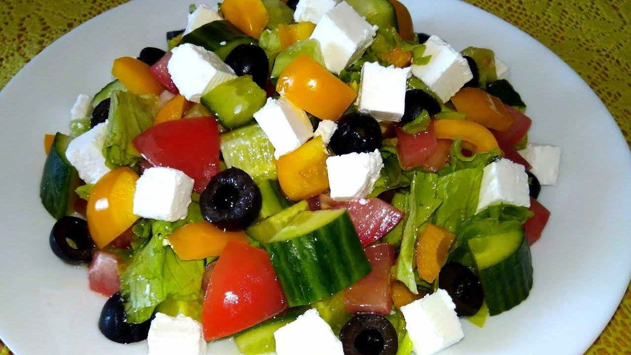 Как приготовить греческий салат с мятой