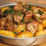 Картофель с мясом на мангале, пошаговый рецепт с фото