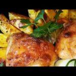 Картофель запеченный в духовке с курицей, пошаговый рецепт с фото