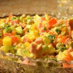 Как приготовить классический салат Оливье