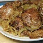Куриная печень с грибами, пошаговый рецепт с фото