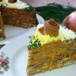 Печеночный торт, рецепт с фото