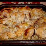 Печёная курица под кефиром, рецепт с фото