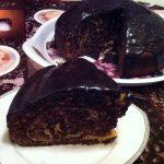 Пирог «Зебра с шоколадной глазурью», пошаговый рецепт с фото