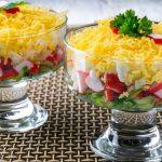 Салат из крабовых палочек, пошаговый рецепт с фото