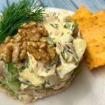 Салат из куриной грудки с яблоками, сельдереем и сыром, пошаговый рецепт с фото