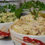 Салат из яиц, риса и печени трески, пошаговый рецепт с фото