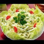 Салат «Вечерний», пошаговый рецепт салата с творогом, с фото