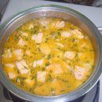 Сливочный суп с семгой, рецепт с фото