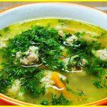 Суп с фрикадельками, пошаговый кулинарный рецепт с фото