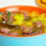 Суп с говяжьими фрикадельками, пошаговый рецепт с фото