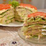 Торт из вегетарианских блинов, пошаговый рецепт с фото