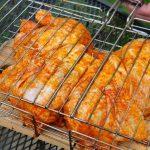 Как приготовить целую курицу на мангале