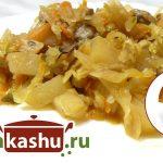 Тушеная капуста с грибами, пошаговый рецепт с фото