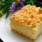 Творожный пирог «Нежность», пошаговый рецепт с фото